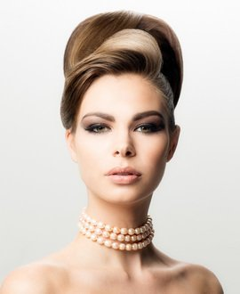 Classic hair up, prom hairstyle, updo, Michel Zeytoun, online hairdressing course
