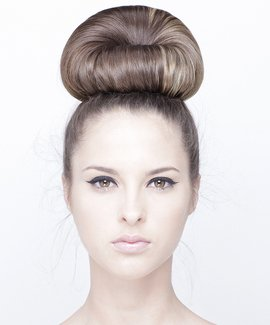 Chignon and front bun hairstyle, how to style hair, hairdressing course, prom hairstyle, formal hairstyle, updo, hair up, dress hair, how to