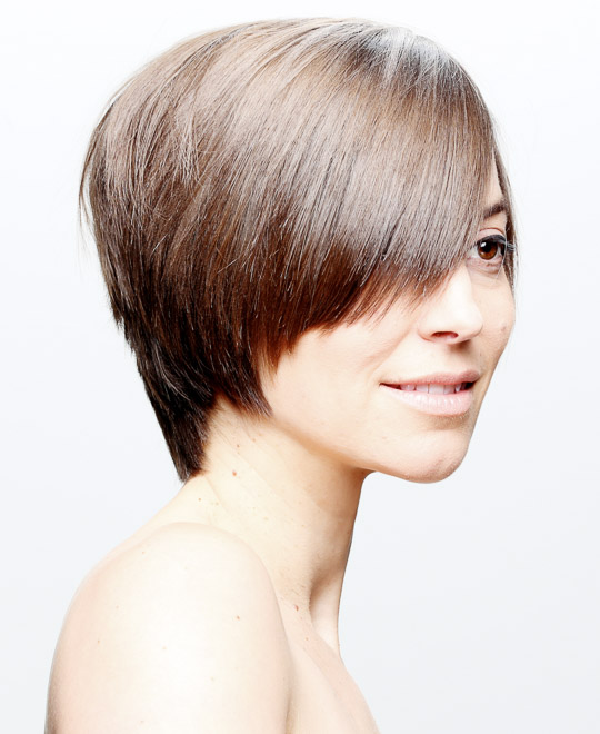 Learn to cut a short round textured layer haircut