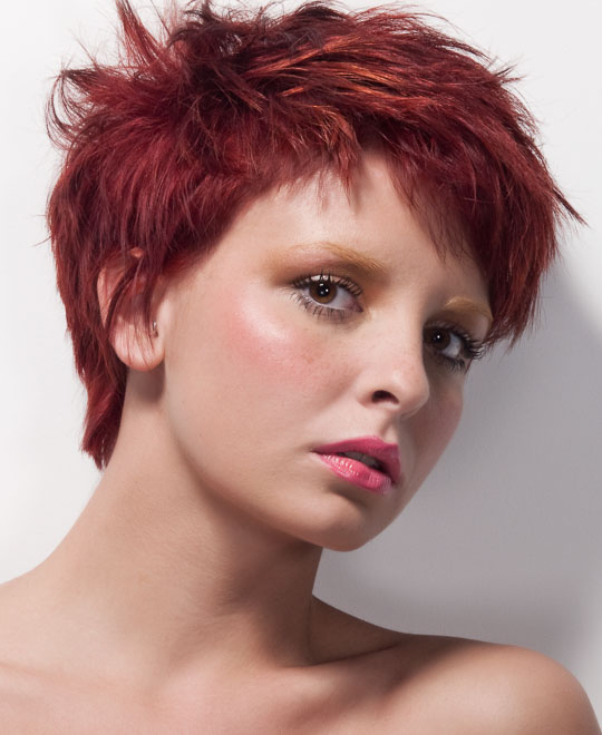 Learn how to cut a short round graduated pixie haircut