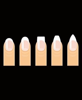 7 nail shapes commonly used in nail art and manicures