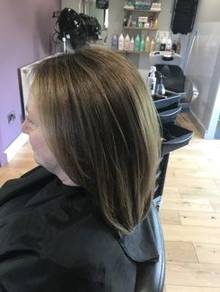 Colour Correction - Lightening Dark Hair Colour